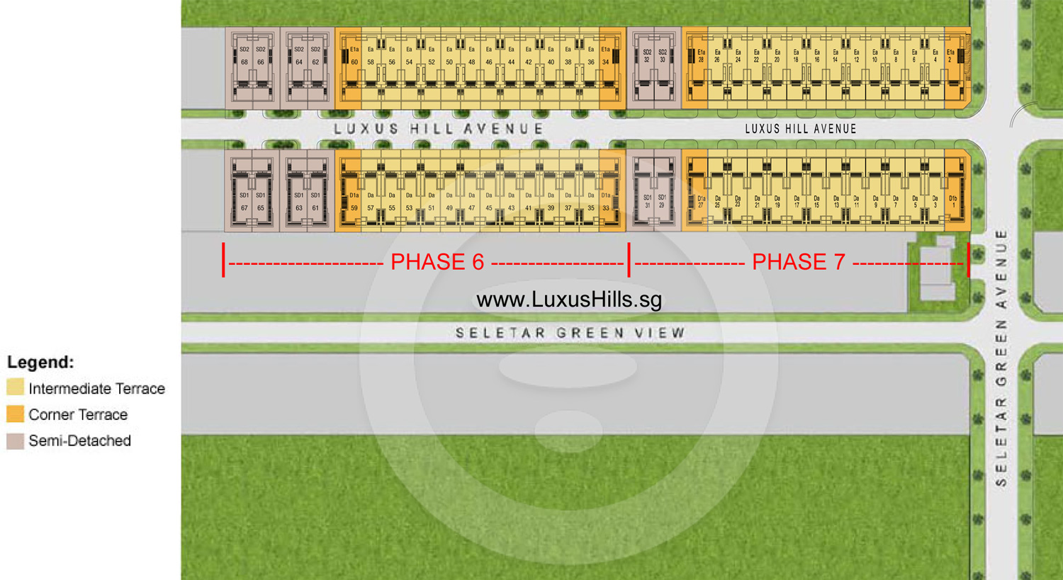 Luxus Hills Site Plan for phase 6 and 7